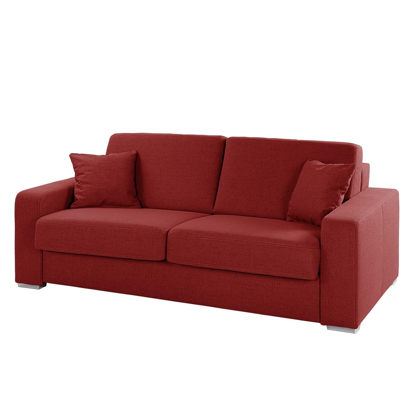 goedkoop Slaapbank Coro geweven stof Rood Home Design