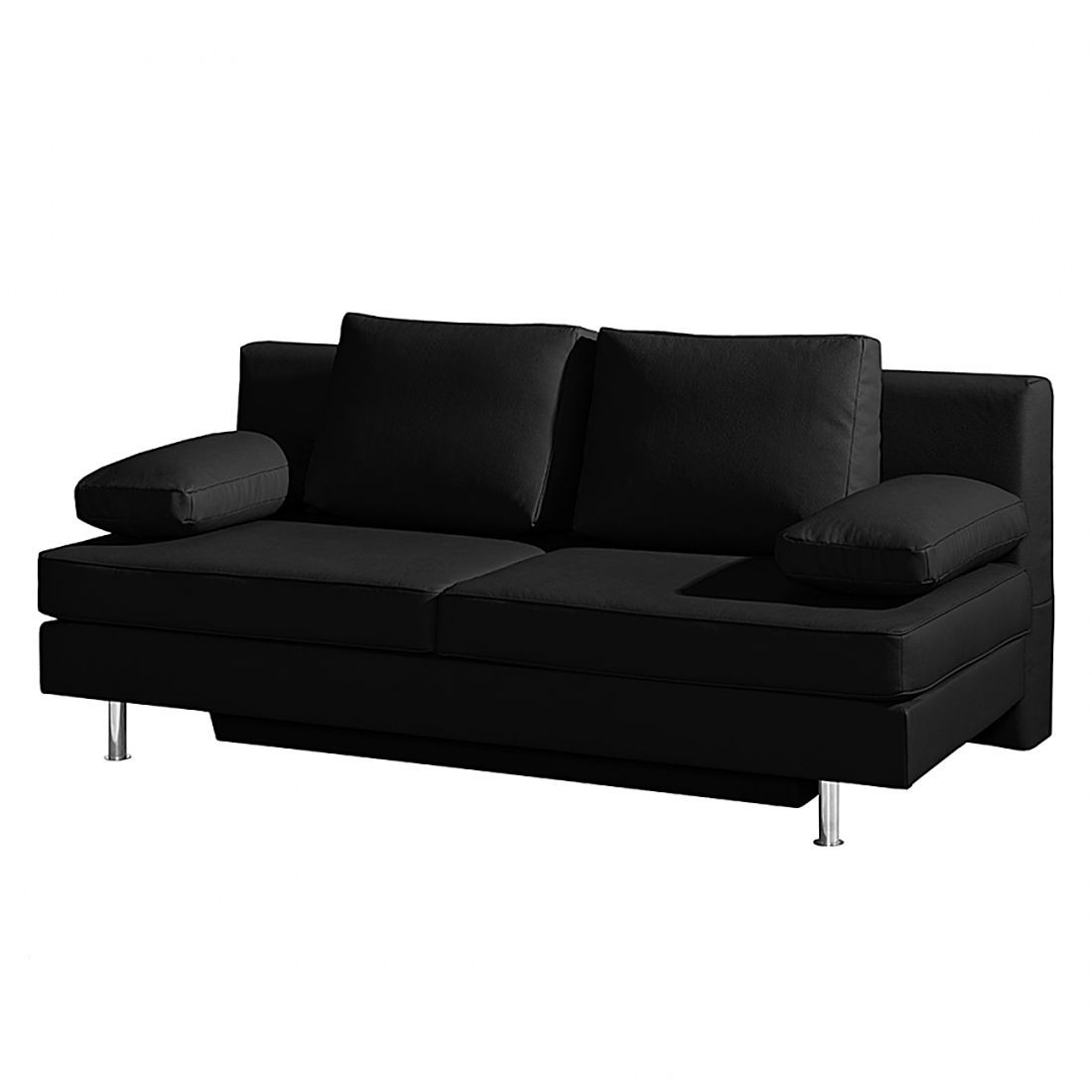 goedkoop Slaapbank Emmanuela zwart kunstleer roomscape