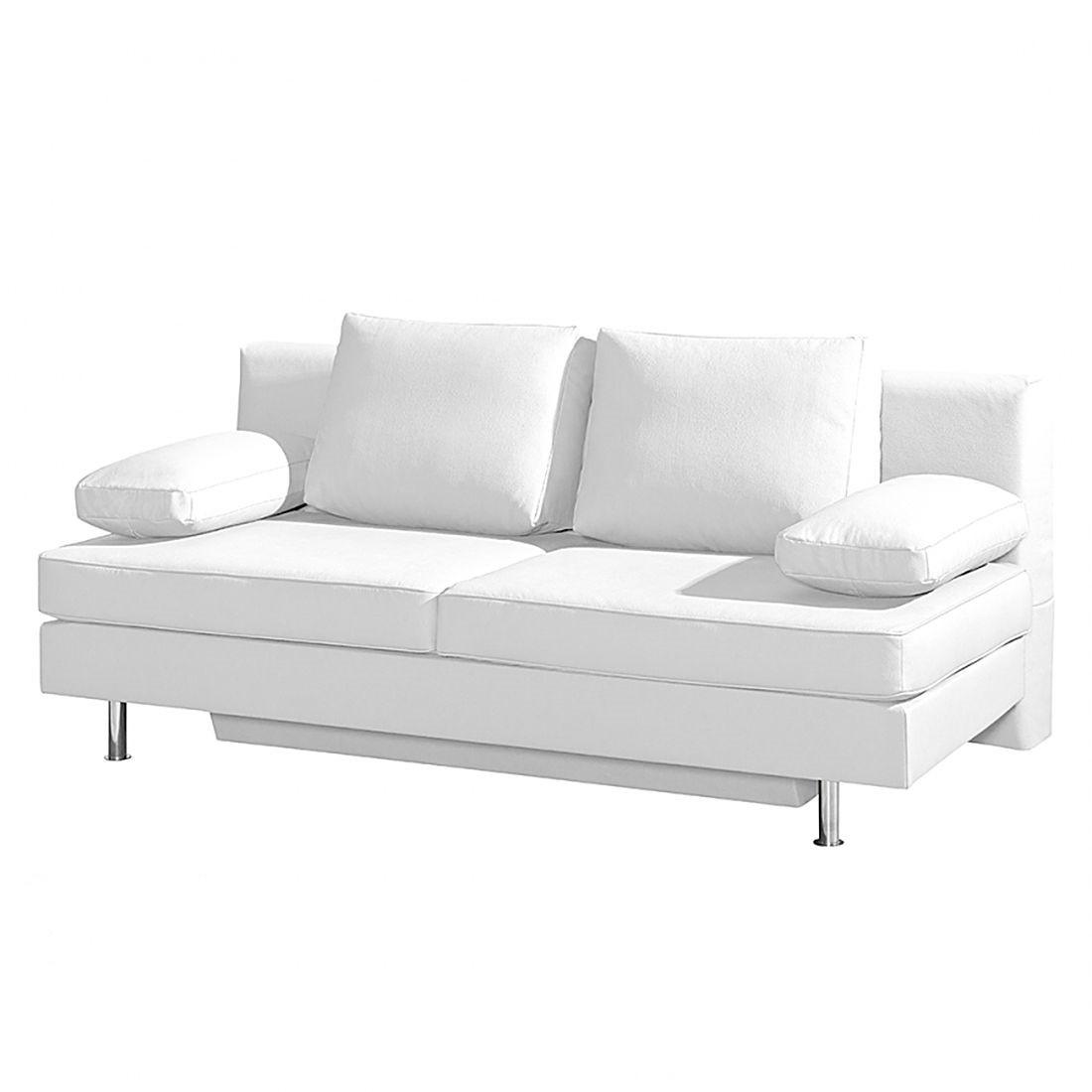 goedkoop Slaapbank Emmanuela wit kunstleer roomscape