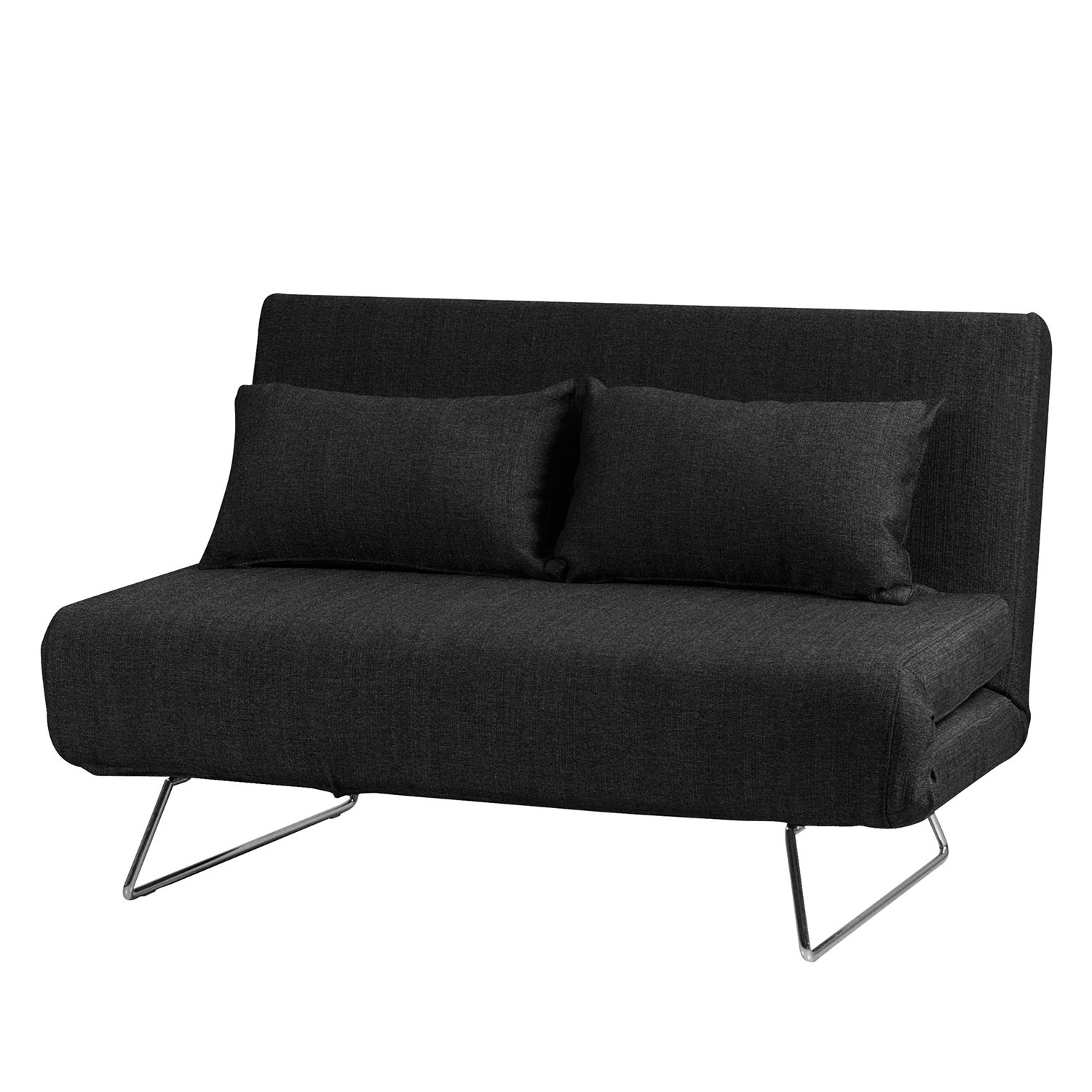 Schlafsofa Frizzo Webstoff - Stoff Livia Anthrazit