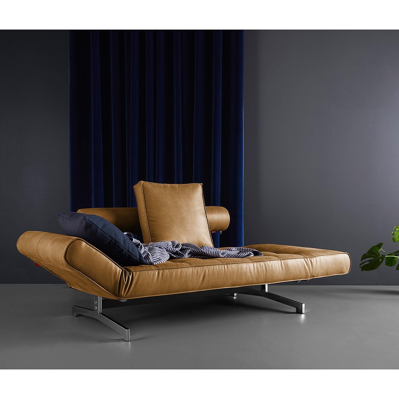home24 Innovation Möbel Schlafsofa Ghia Braun Webstoff 210x68x90 cm mit Schlaffunktion