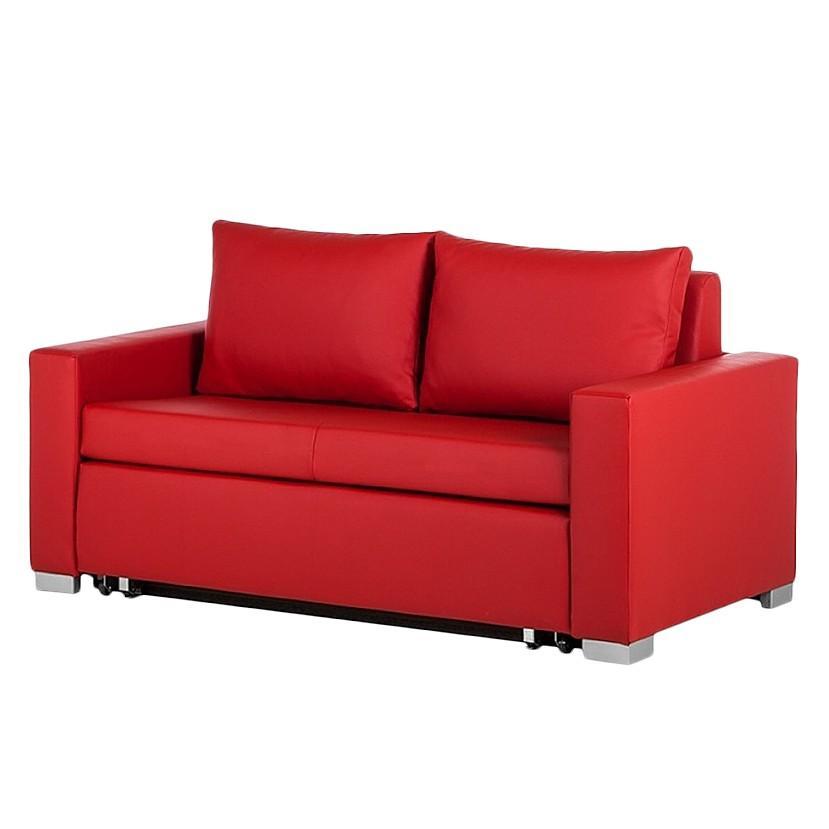 goedkoop Slaapbank Latina XIV kunstleer Rood 150cm mooved