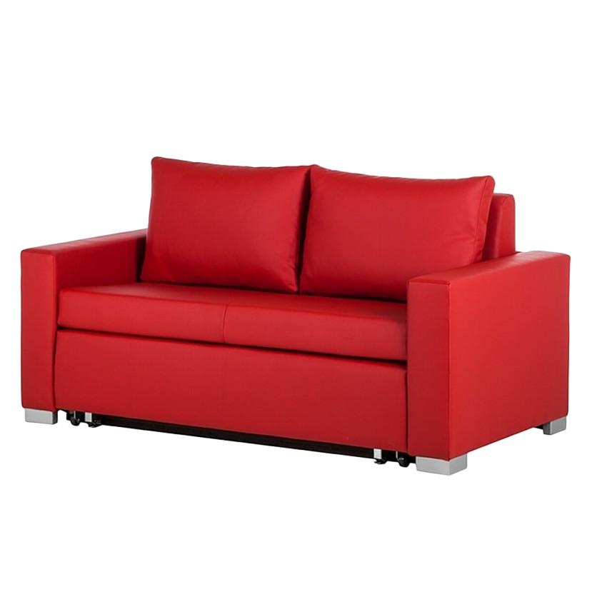 goedkoop Slaapbank Latina XIV kunstleer Rood 170cm mooved