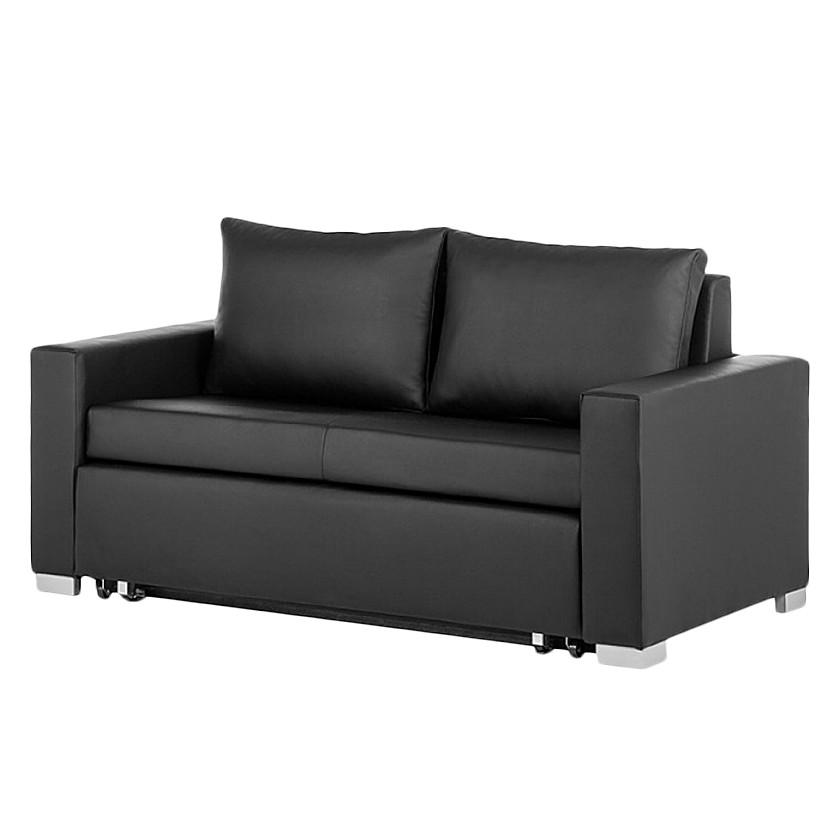 goedkoop Slaapbank Latina XIV kunstleer Zwart 150cm mooved