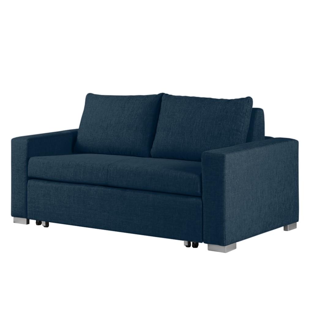 Schlafsofa Latina Webstoff - 170 cm - Stoff Doran Blau, mooved bei Home24 - Möbel