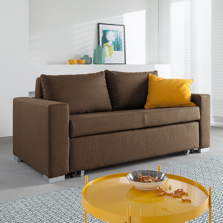 home24 Schlafsofa Latina Webstoff | Wohnzimmer > Sofas & Couches > Schlafsofas | Braun | mooved