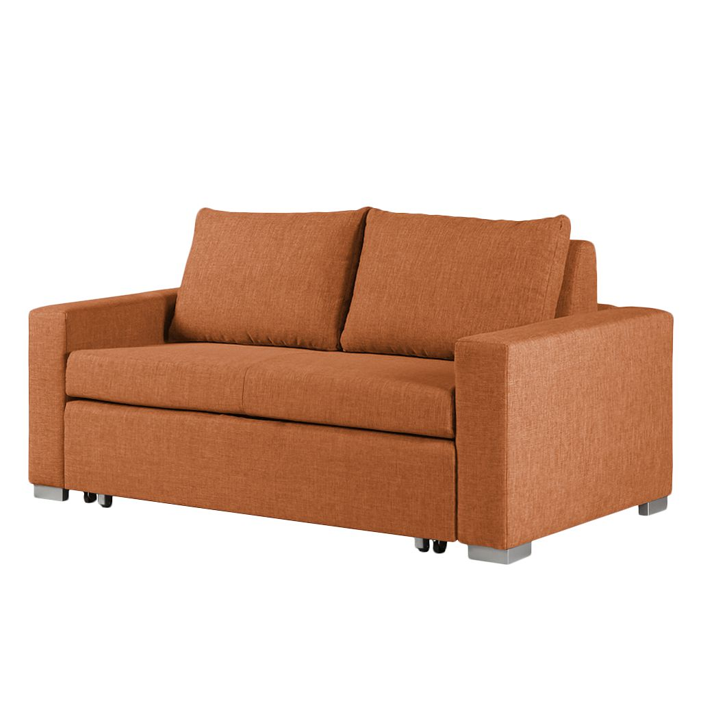 goedkoop Slaapbank Latina geweven stof 170cm Stof Doran Oranje mooved