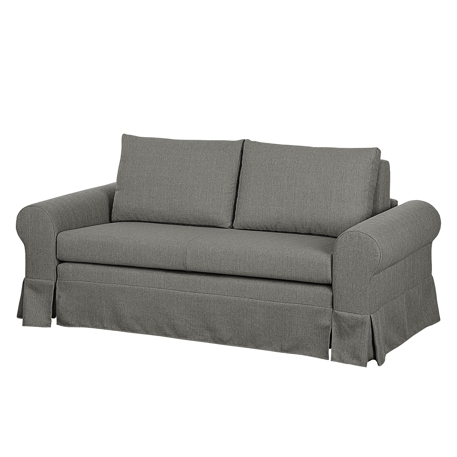 Canapé convertible Latina XIII Tissu - Gris - 185 cm, mooved
