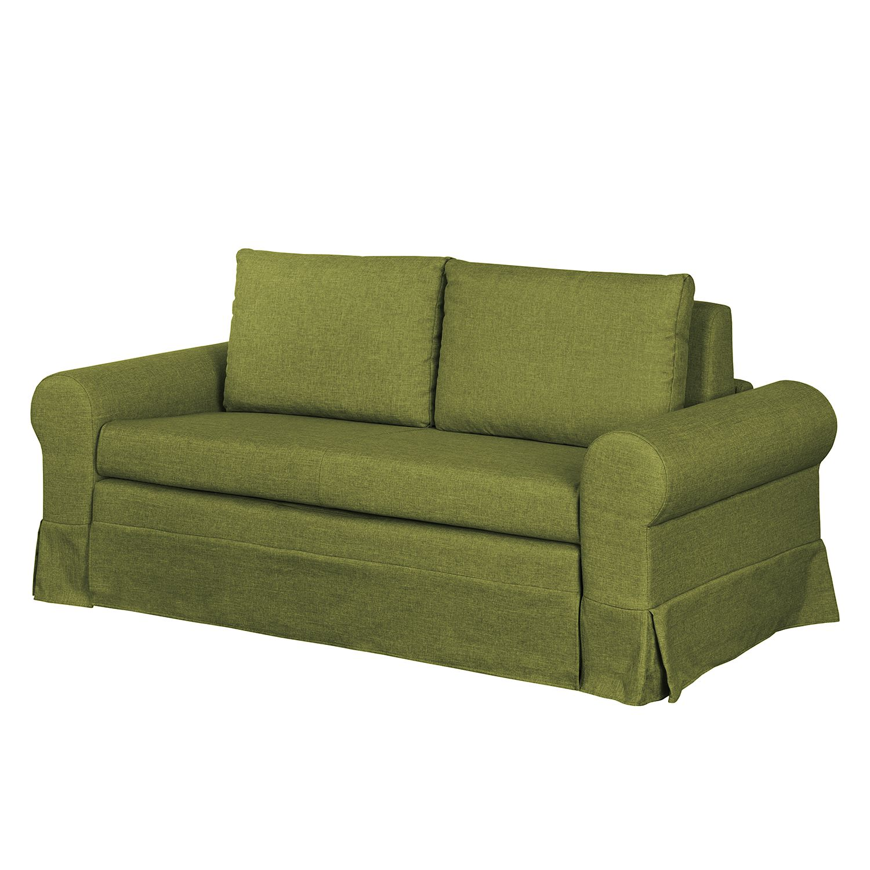 goedkoop Slaapbank Latina III geweven stof Groen 165cm mooved