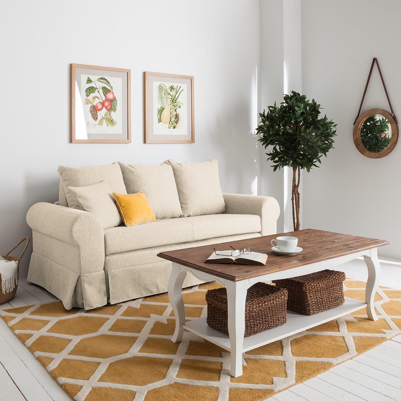 home24 mooved Schlafsofa Latina XIII Kaschmir Webstoff 185x90x90 cm mit Schlaffunktion und Bettkasten