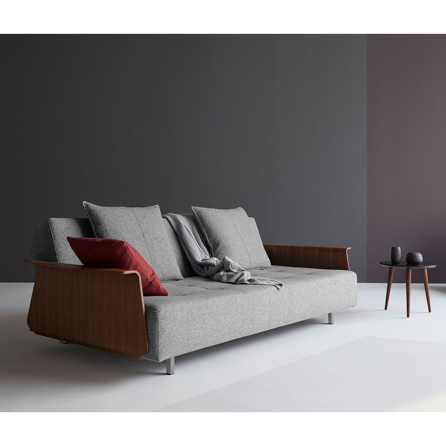home24 Schlafsofa Long Horn I Webstoff