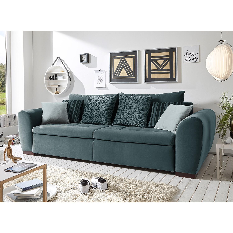 home24 Schlafsofa Peguera Microfaser | Wohnzimmer > Sofas & Couches > Schlafsofas | Grau | Ridgevalley