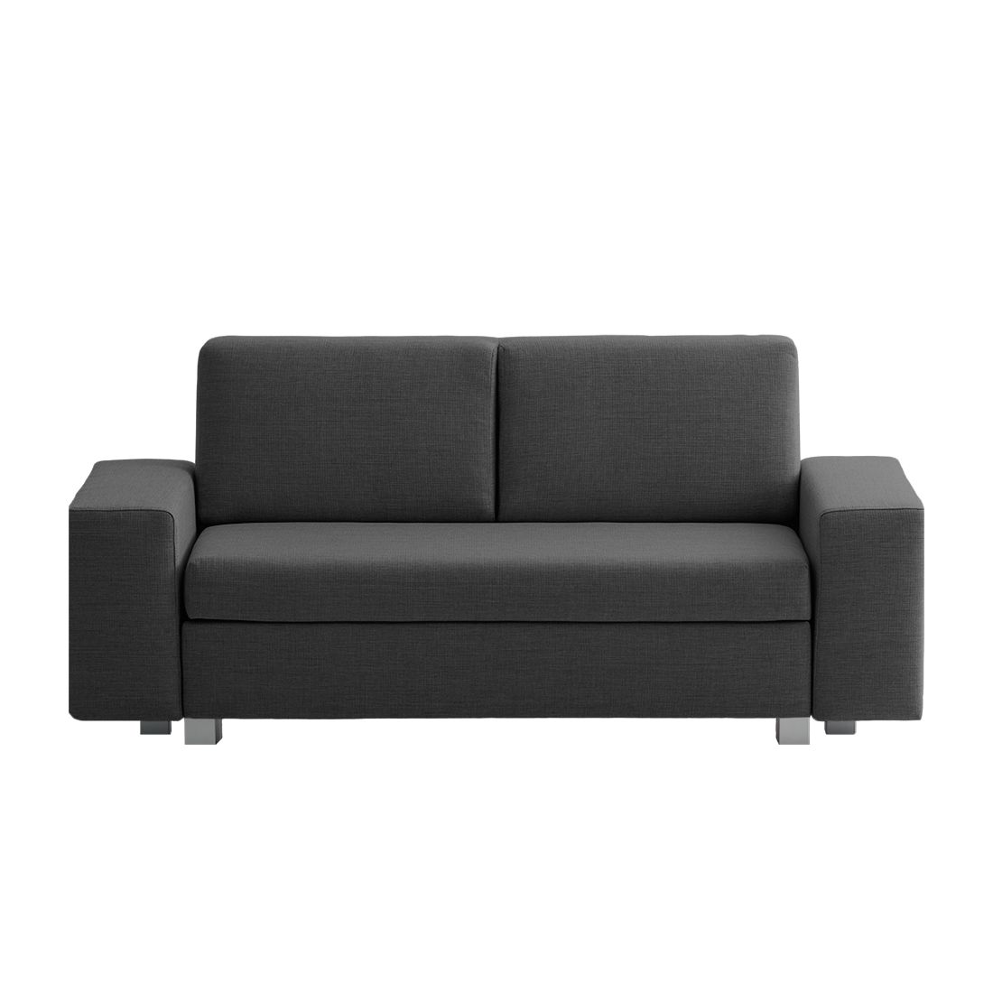 goedkoop Slaapbank Plaza geweven stof Antraciet 178cm Brede armleuning chillout by Franz Fertig