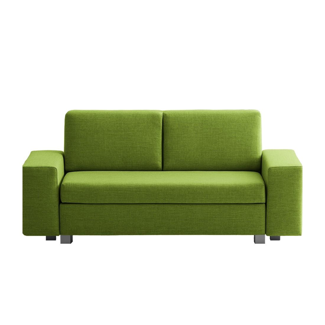goedkoop Slaapbank Plaza geweven stof Groen 178cm Brede armleuning chillout by Franz Fertig