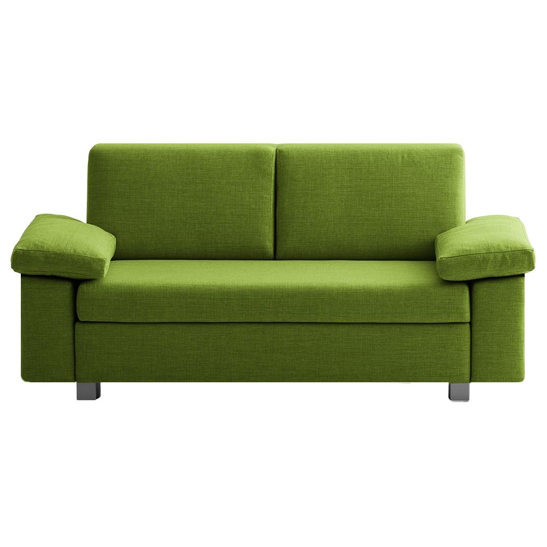 goedkoop Slaapbank Plaza geweven stof Groen 222cm Opklapbare armleuningen chillout by Franz Fertig