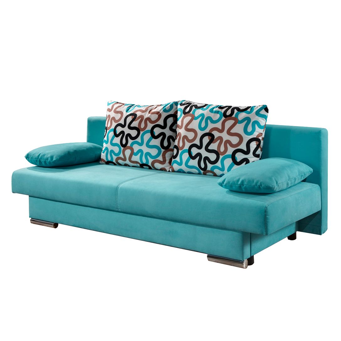goedkoop Slaapbank Rijeka turquoise microvezel Home Design