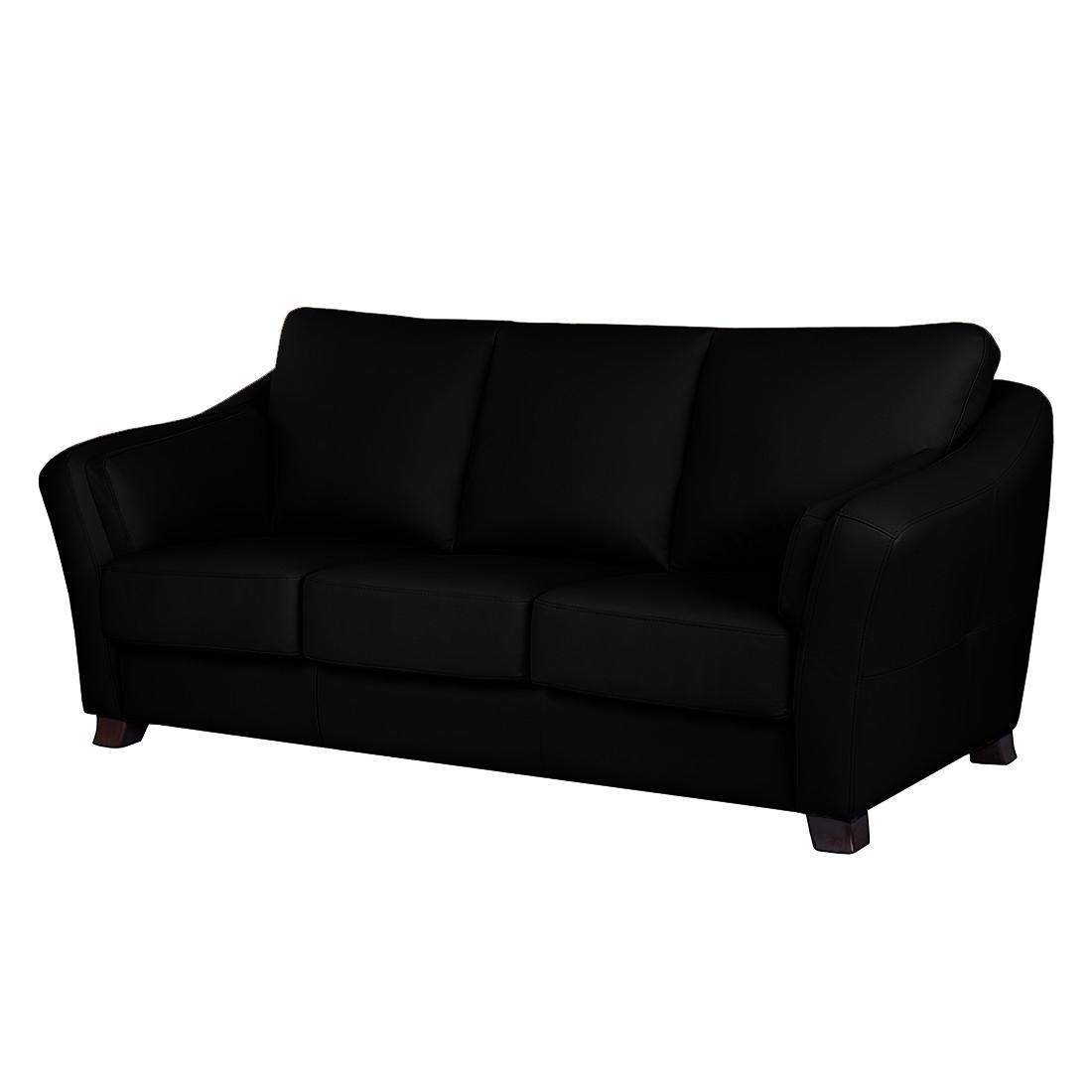 Canapé convertible Toucy - Cuir véritable noir, Nuovoform