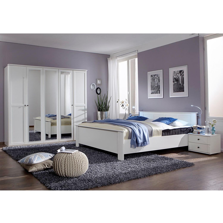 Ensemble de chambre à coucher Cecilie - Petit modèle - Blanc alpin, Wimex
