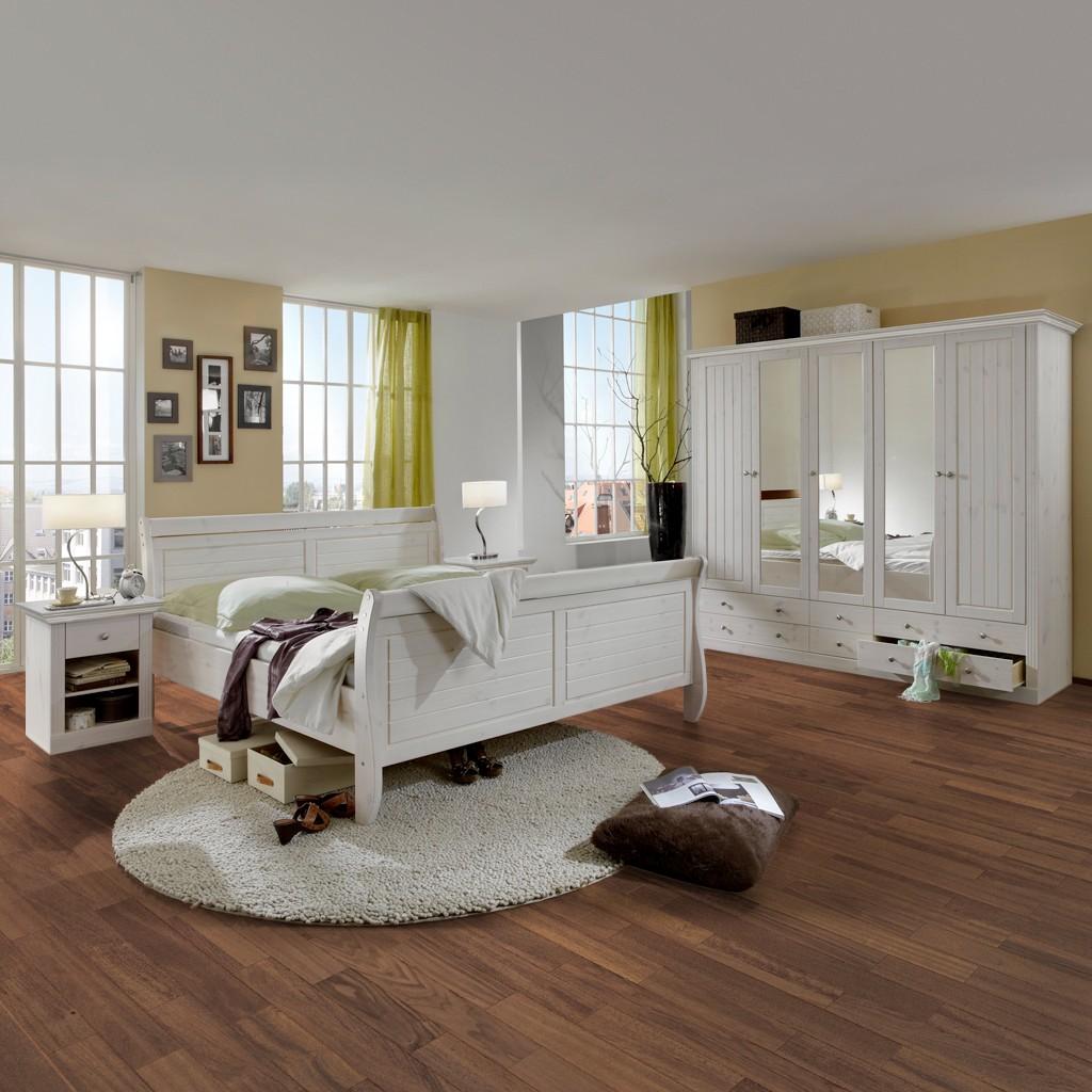 Schlafzimmermöbel - Schlafzimmerset Lyngby (4-teilig) - Maison Belfort - Weiss