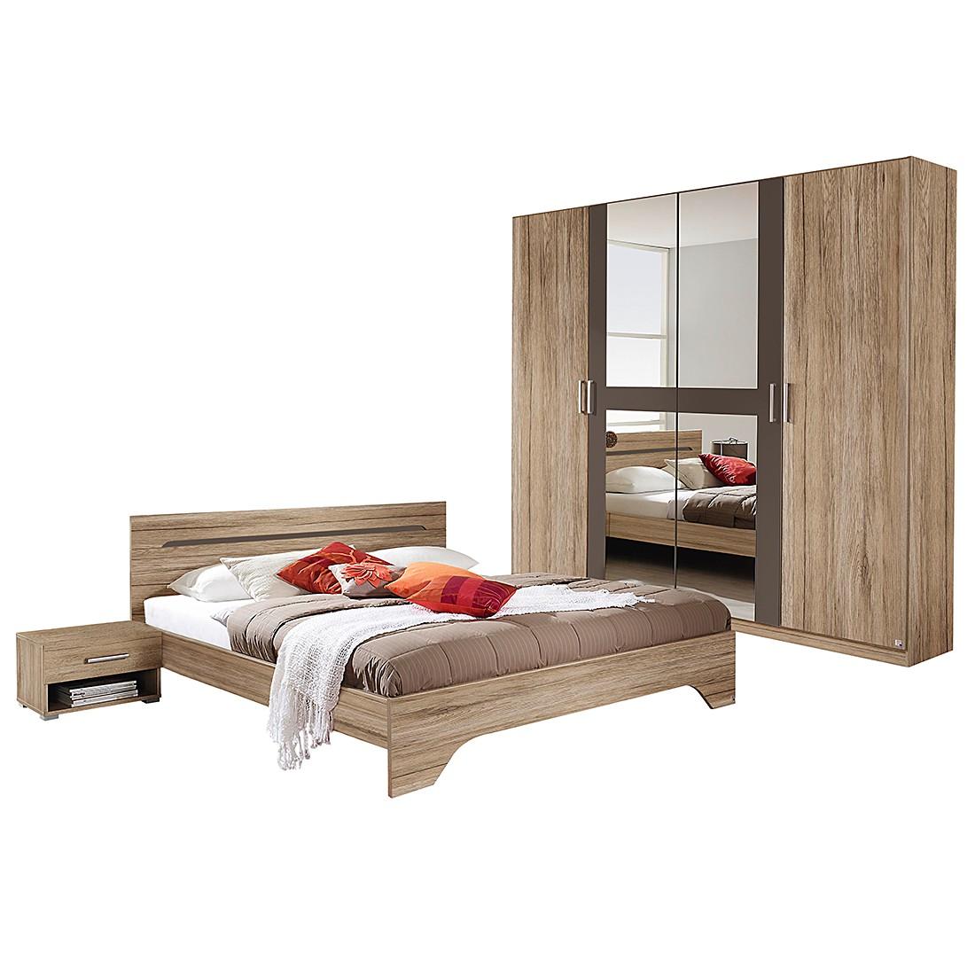 Schlafzimmerset Rubi I 4 Teilig Sanremo Eiche Dekor Lavagrau