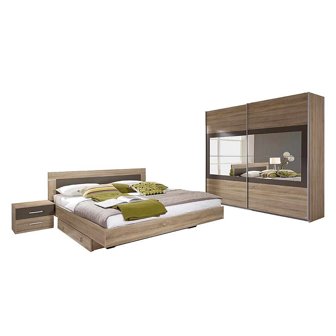 Schlafzimmerset Venlo (4 Teilig)   Eiche Sonoma Dekor/Absetzung Lavagrau |  Home24