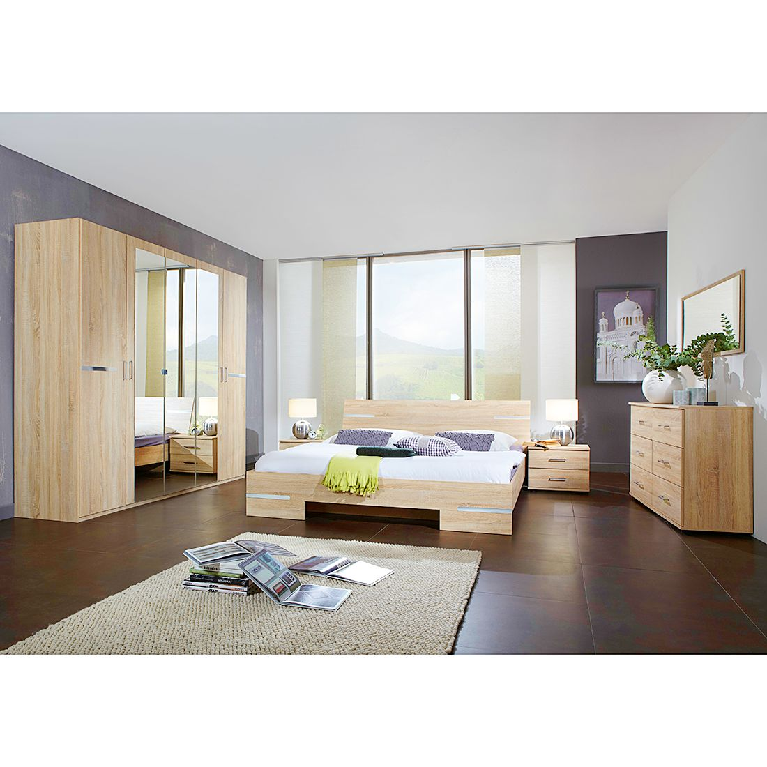 home24 Schlafzimmerset Tulloch (4-teilig)