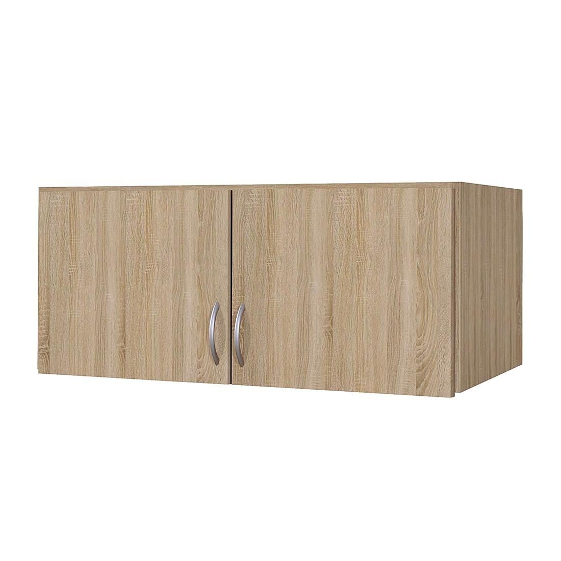goedkoop Kast opzetstuk Case Sonoma eikenhouten look opzetstuk breedte 136cm 3 deurs Rauch Packs