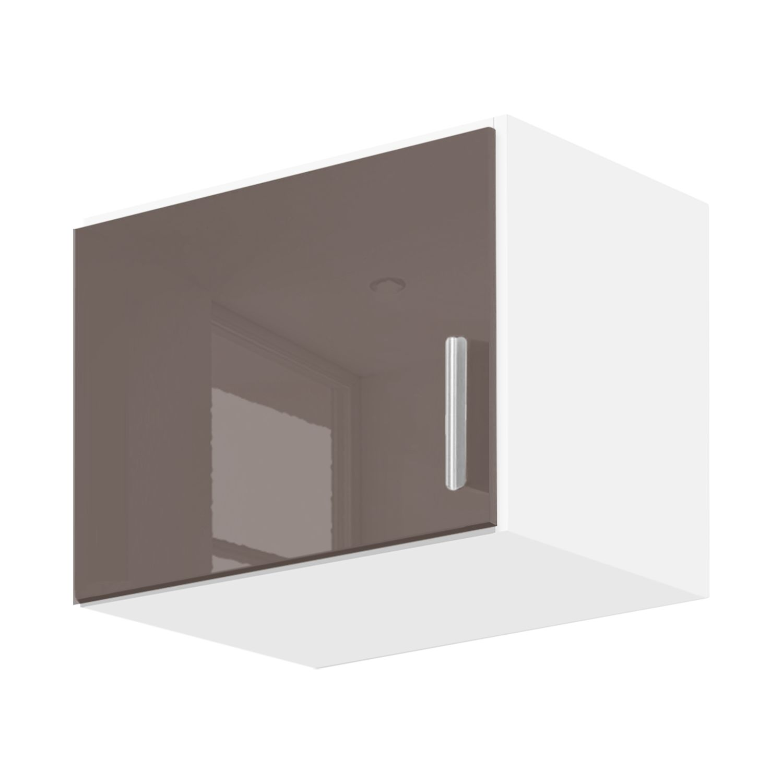 goedkoop Kast opzetstuk Celle Alpinewit hoogglans lavagrijs 47cm 1 deurs Rauch Packs