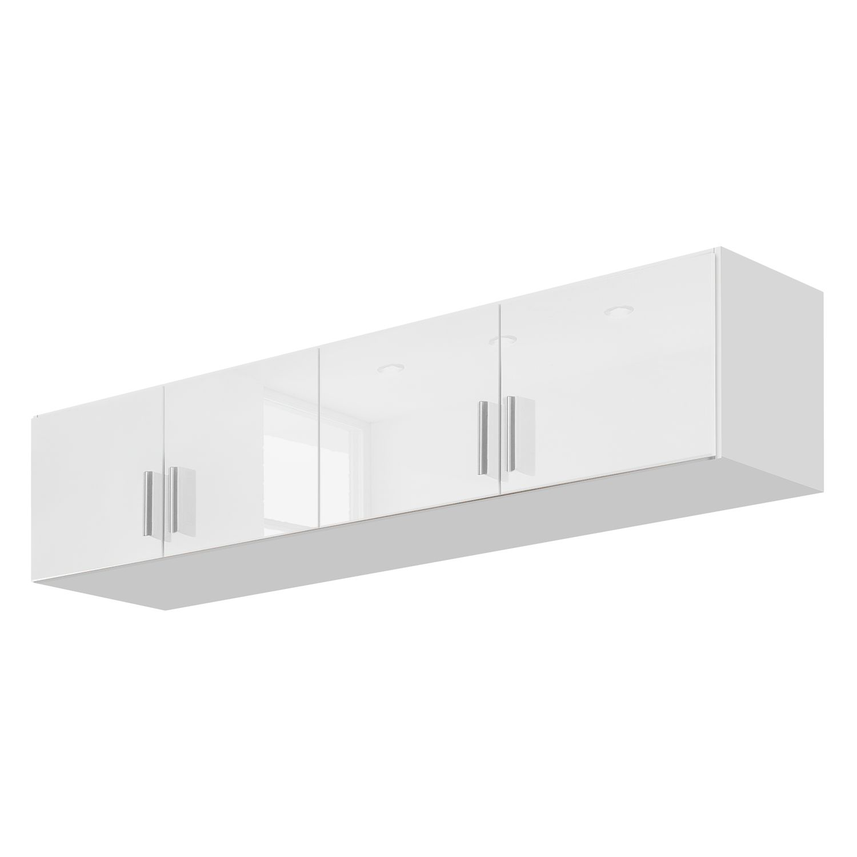 goedkoop Kast opzetstuk Celle Alpinewit hoogglans wit 181cm 4 deurs Rauch Packs