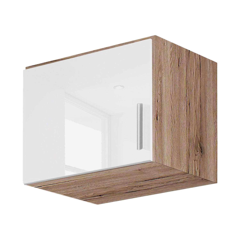 goedkoop Kast opzetstuk Celle Hoogglans wit Lichte San Remo eikenhouten look 47cm 1 deurs Rauch Packs