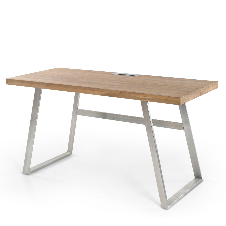 home24 Schreibtisch Aleg   Büro > Bürotische > Schreibtische   Braun   Holzwerkstoff   Fredriks