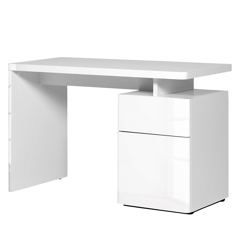 Schreibtisch Cuuba Libre 120 - Hochglanz Weiß, Jahnke