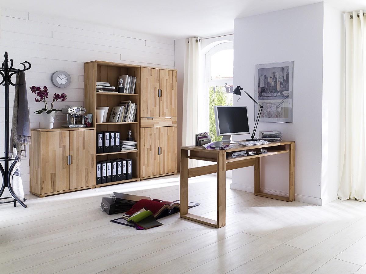 Schreibtisch Lumberjack Aus Geoltem Massivholz Kaufen Home24