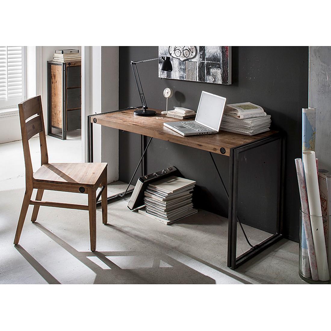 Industrial Schreibtisch schreibtisch manchester aus massiver akazie metall home24