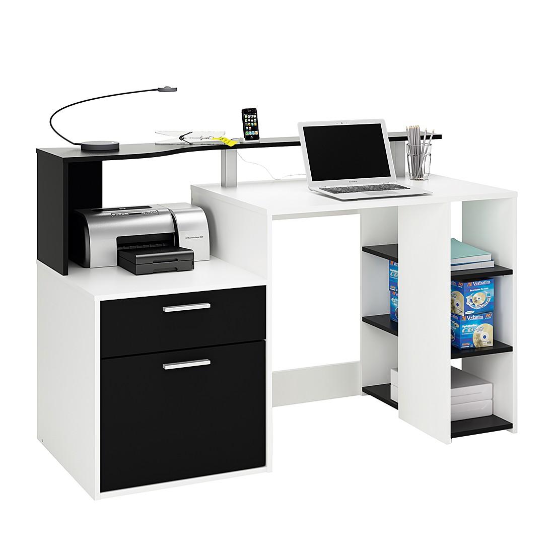 home24 Schreibtisch Marseille | Büro > Bürotische | Schwarz | Holz | mooved