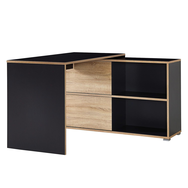 rabatt germania eckschreibtisch slide in anthrazit sonoma eiche nachbildung. Black Bedroom Furniture Sets. Home Design Ideas