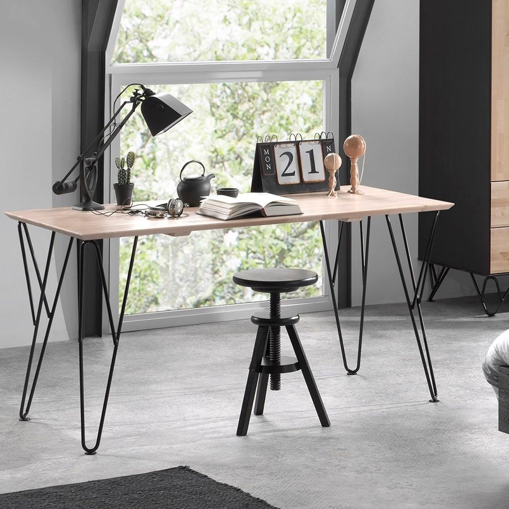 home24 Schreibtisch William | Büro > Bürotische | Beige | Vipack