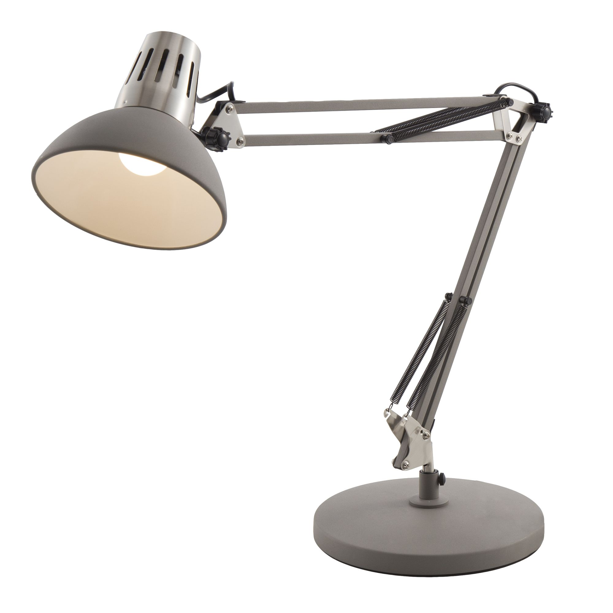 home24 Schreibtischleuchte Rudy | Lampen > Bürolampen | Grau | Metall | Nino Leuchten