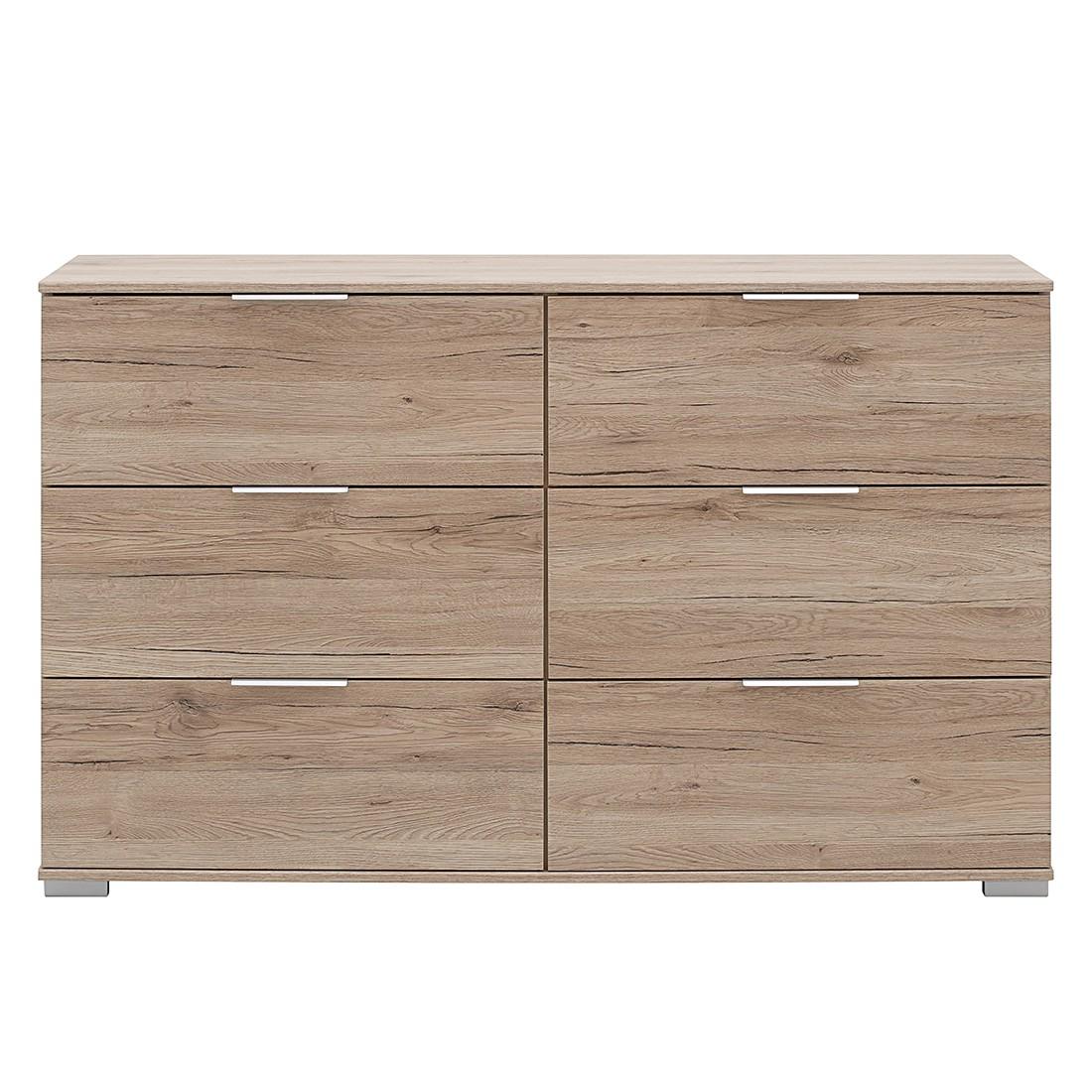 Commode à tiroirs Easy Plus III - Imitation chêne de Sanremo - Imitation chêne de Sanremo, Wimex