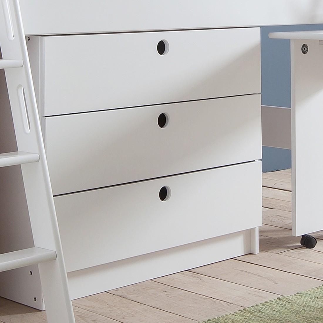 home24 Schubladenkommode Kim | Schlafzimmer > Kommoden > Wäschekommoden | Weiss | Massivholz - Holz | Relita
