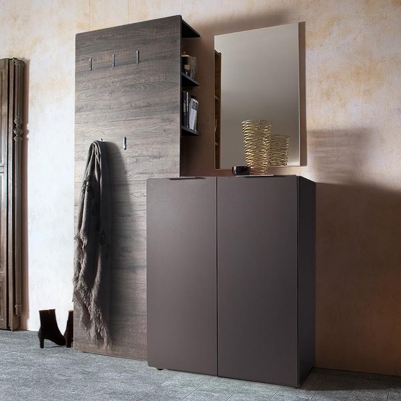 home24 Schuhkommode Mavie | Flur & Diele > Schuhschränke und Kommoden > Schuhkommoden | Grau | Holzwerkstoff | Fredriks