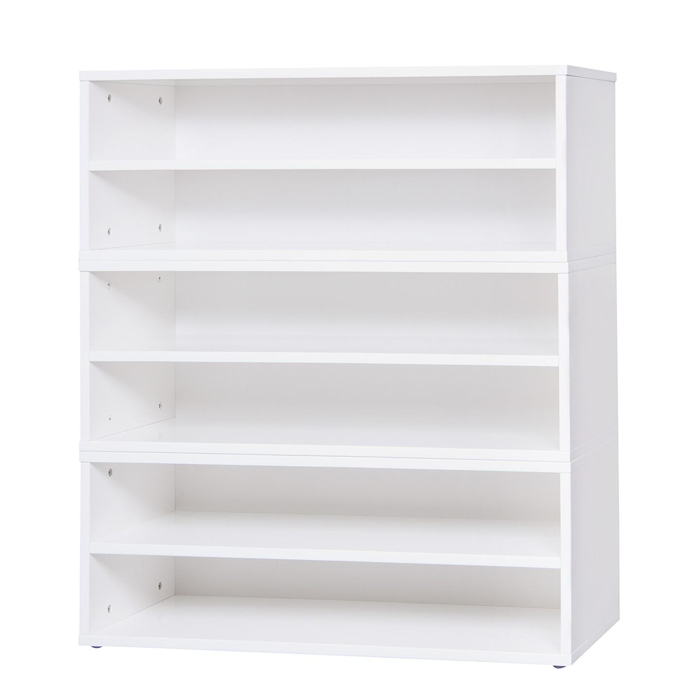 Schuhregalset BOX BASE III - Hochglanz Weiß