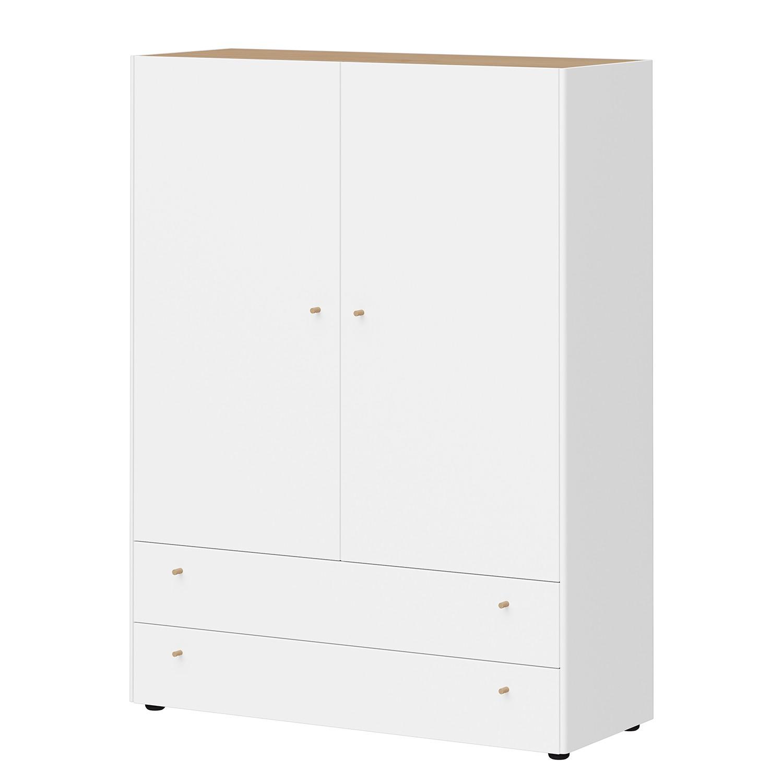 Hochkommode Monteo II - Weiß / Eiche Dekor