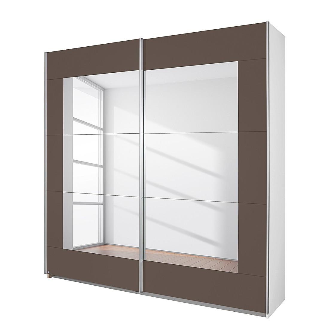 goedkoop Schuifdeurkast Alegro Alpinewit lavakleurig glas 181cm 2 deurs Rauch