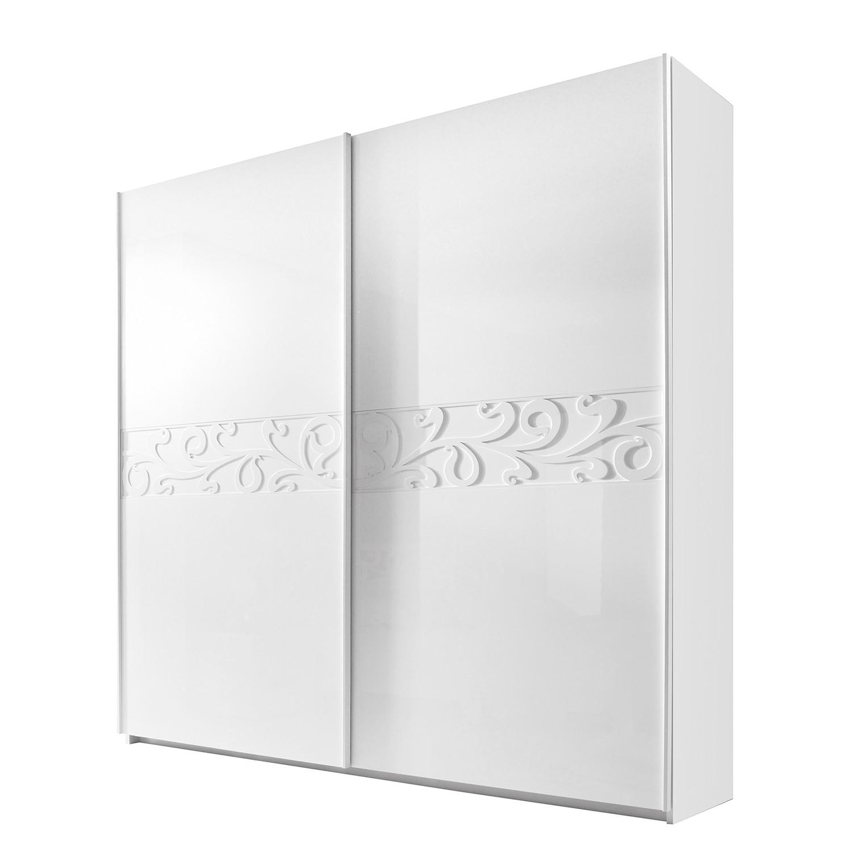 goedkoop Schuifdeurkast Ambrosia hoogglans wit 240cm 2 deurs 210cm Lc Mobili