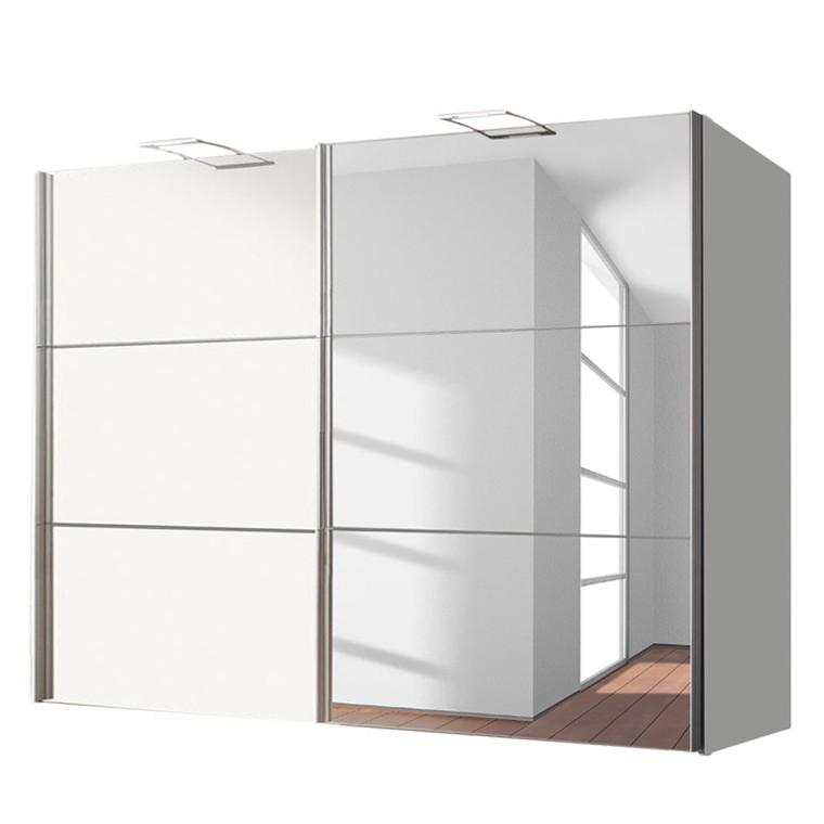 goedkoop Zweefdeurkast Bianca Alpinewit spiegelglas 250cm 2 deurs Express Mobel