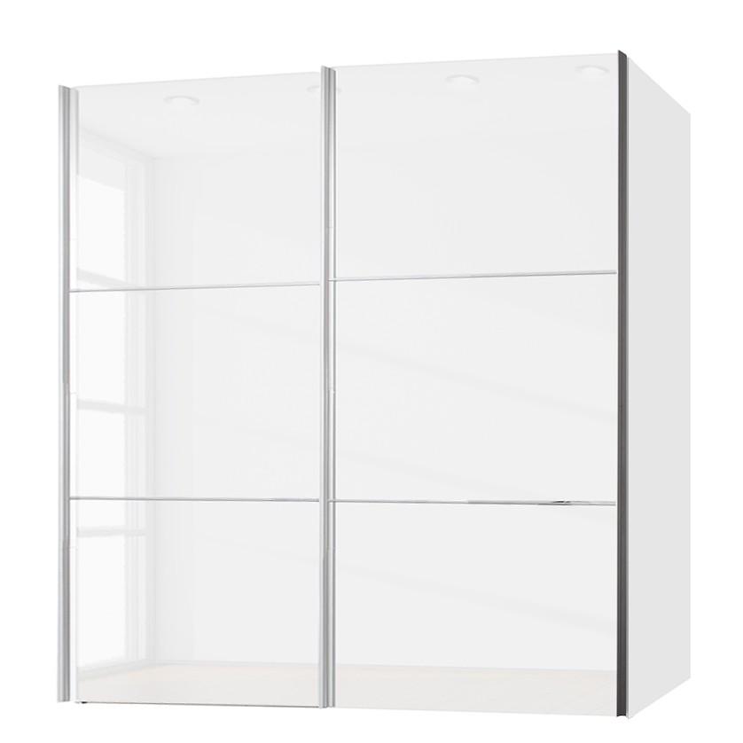 Armoire à portes coulissantes Zuri - Blanc brillant - 200 cm (2 portes), Express Möbel