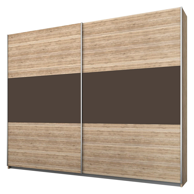 goedkoop Schuifdeurkast Borba Lichte San Remo eikenhouten look lavasteenkleurig 218cm 2 deurs Rauch Packs