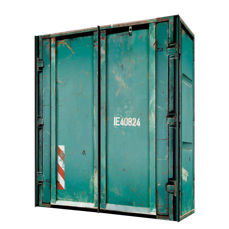 goedkoop Zweefdeurkast Cando Turquoise Green 200cm 2 deurs Express Mobel