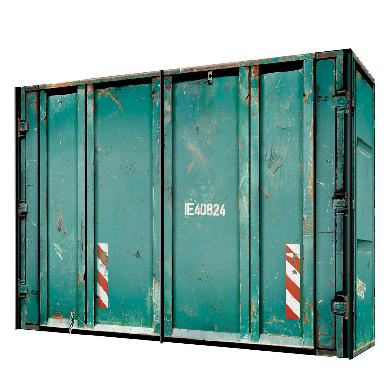 Armoire à portes coulissantes Yorkton - Vert turquoise - 300 cm (2 portes), Express Möbel